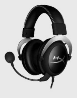 Kingston Technology HyperX Cloud Silver Gaming Headset with In-Line Audio Contro