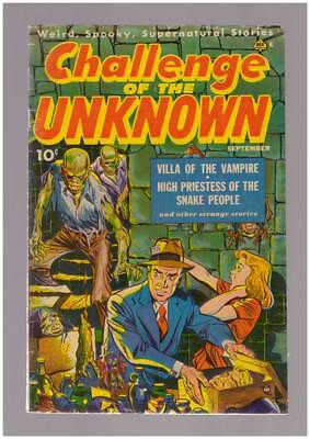 Challenge of the Unknown # 6  Villa of the Vampire ! grade 4.0 scarce Ace book !