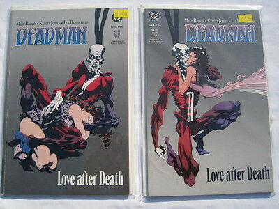 "DEADMAN : ""LOVE AFTER DEATH"" COMPLETE 2 PART MINI SERIES by KELLEY JONES.DC.1989"