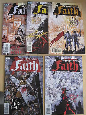 FAITH : COMPLETE 5 ISSUE SERIES by TED McKEEVER. DC VERTIGO.1999. NEW