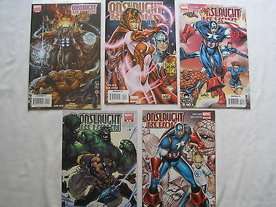 ONSLAUGHT REBORN : COMPLETE 5 ISSUE SERIES by JEPH LOEB, ROB LIEFELD.MARVEL.2007