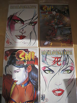 """SHI : """"HEAVEN & EARTH"""", COMPLETE 4 ISSUE SERIES by WILLIAM TUCCI.1997.CRUSADE"""