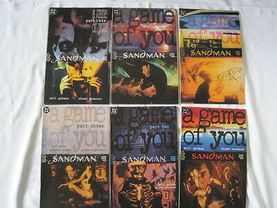 """Sandman 32,33,34,35,36,37 :""""a Game Of You"""" Complete 6 Issue Story.gaiman.dc.1991"""