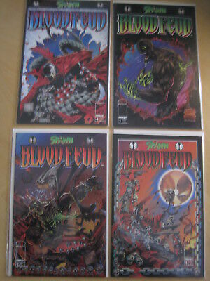 SPAWN : BLOOD FEUD : COMPLETE 4 ISSUE SERIES by ALAN  MOORE & DANIEL. IMAGE.1995