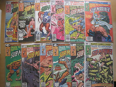 TALES to ASTONISH :The SUB-MARINER : COMPLETE RUN of #s 3 - 14. 1980. .MARVEL