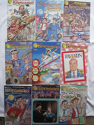 The HONEYMOONERS : COMPLETE RUN OF ISSUES 1,2,3,4,5,6,7,8,9. VFN-NM. TRIAD. 1987