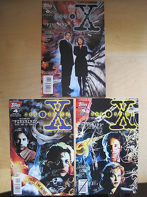 """THE X FILES #s 4,5,6 : """"FIREBIRD"""" complete 3 issue story. MULDER. TOPPS. 1995"""