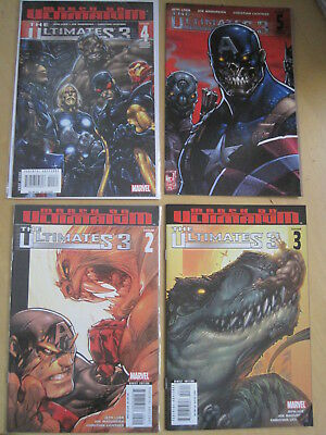 THE ULTIMATES 3 : COMPLETE 5 ISSUE 2008 MARVEL SERIES with BOTH #1 GATEFOLD CVRS