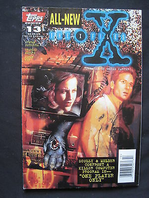 """THE X FILES # 13 :""""ONE PLAYER ONLY"""" complete story. MULDER. SCULLY. TOPPS.1996"""
