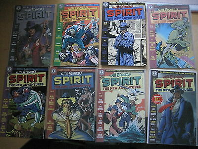 The SPIRIT : NEW ADVENTURES :COMPLETE 8 ISSUE SERIES xcpt #2 & 6 by MOORE +.1997