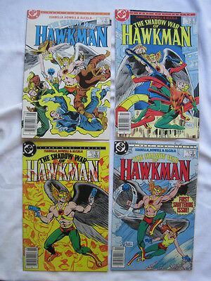 The SHADOW WAR of HAWKMAN : COMPLETE 4 ISSUE MINI SERIES FROM 1985. DC