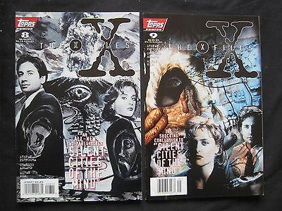 """THE X FILES # 8,9 :""""SILENT CITIES of the MIND"""" complete 2 issue story.TOPPS.1995"""