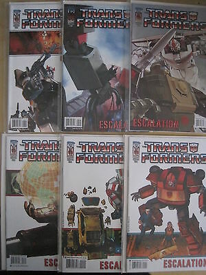 """Transformers : """"escalation """" : Complete 6 Issue Series. Idw. 2006"""