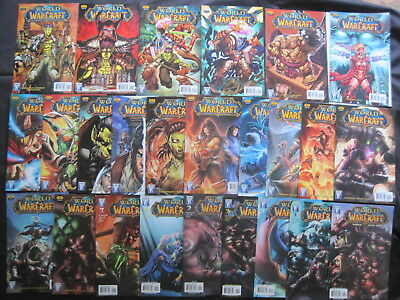 WORLD of WARCRAFT : COMPLETE 25 issue WILDSTORM 2008 SERIES by SIMONSON etc