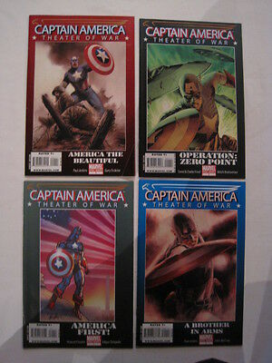 "CAPTAIN AMERICA : ""THEATER OF WAR""  : SET OF 4 BEAUTIFUL GIANT ONE-SHOTs. 2008"