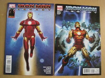 IRON MAN LEGACY : SET OF 2 issue 1 VARIANT + NEWSSTAND EDITIONS. MARVEL.2010