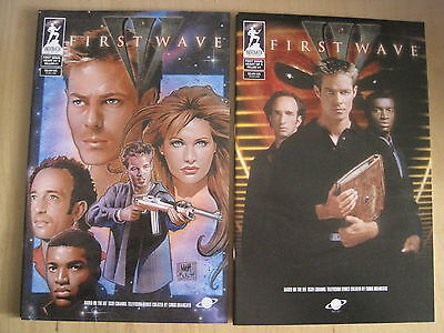FIRST WAVE, Heart of a Killer :SET of 2 ISSUE 1 COVERS. TV SERIES.ANDROMEDA.2000