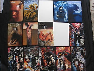 The X FILES : SET of 30 (except 7,13) of BEAUTIFUL MASTER VISIONS GIANT T/ CARDS