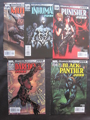 SET of 5 x 2099 1-SHOTS by ROB KIRKMAN : PUNISHER,INHUMANS,PANTHER +.MARVEL.2004