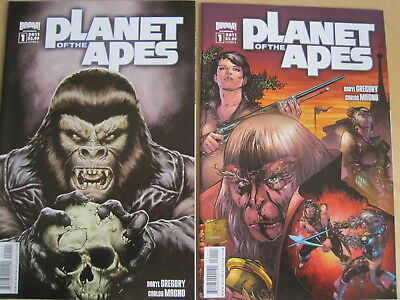 PLANET of the APES : SET of issue 1 COVERS A & B. BOOM 2011 SERIES