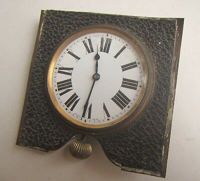 Old Swiss Made wind up Travel Clock
