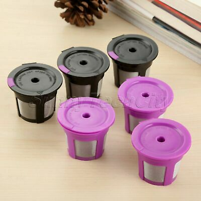 Coffee Filter Pod Cup 2 Colors For Keurig 2.0 Reusable K-Cup 1/6/9Pcs i Cafilas