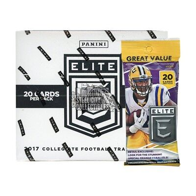 2017 Panini Elite Draft Picks Collegiate Football 12ct Fat Pack Box