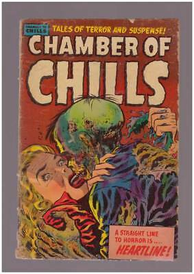 Chamber of Chills # 23  Classic Corpse cover !  grade 2.5 scarce Harvey book !
