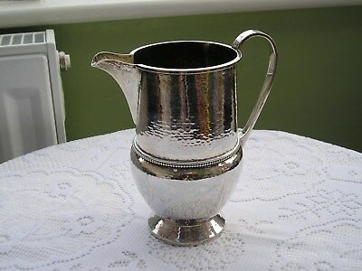 Lovely Rare Arts & Crafts Solid Silver Jug By A E Jones