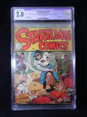 Startling Comics #21    CGC Graded 2.0    Cream to Off White Pages    Schomburg