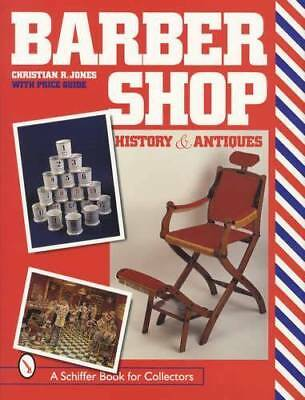 Vintage Barber Shop Collectors Guide incl Bottles Shaving Mugs Fixtures & More