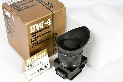 Boxed! Nikon  Dw-4 6X  Magnification Finder + Base Cap For F3Hp F3/t F3P Camera