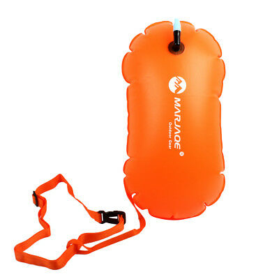 Safety Swim Buoy Air Bag Inflated Flotation Device for Open Water Swimming