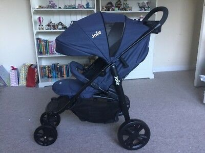Joie Litetrax 4 Navy Pushchair suitable from birth, new