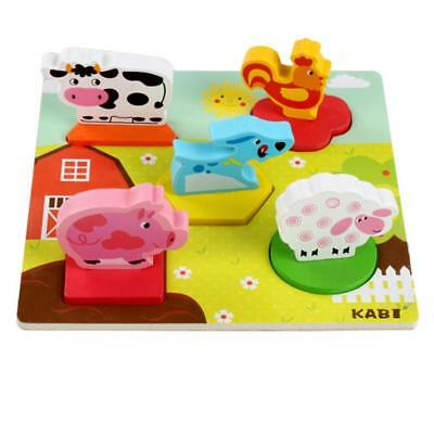 3D Wooden Puzzle Cartoon Learning Educational Kids Toy Development Baby Toys W