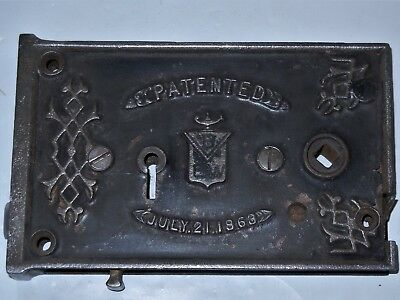 """3 3//8/""""  CAST IRON KEEPER FOR RIM LOCK 007021 REPRODUCTION"""