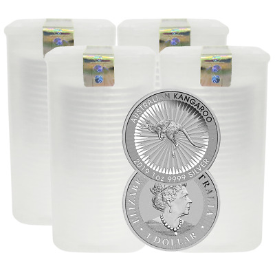 Lot of 100 - 2019-P $1 Silver Australian Kangaroo 1 oz Brilliant Uncirculated Fu