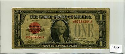 United States Note $1 One Dollar 1928 Red Seal in Circ Condition SN A01284554A