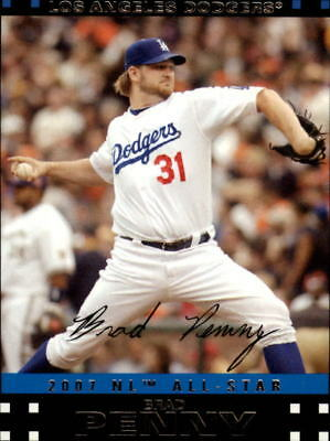 2007 Topps Update Los Angeles Dodgers Baseball Card #244 Brad Penny