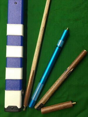 New 3/4 piece Handmade Ash Snooker/Pool Cue set W/ Case Extension Rosewood ,TSC7