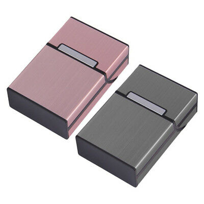 Aluminum Metal Cigar Cigarette Box Holder Pocket Tobacco Storage Case SALE
