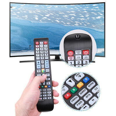 9 Inch Backlit TV Remote Control Replacement Matt Black BN59-01179A for Samsung