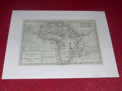 [CARD GEOGRAPHIC 18th] Rigobert BONNE - AFRICA (1780) PAPER BLUE