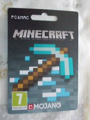Mindcraft Pc & Mac Collectable Empty Gift Card Mojang