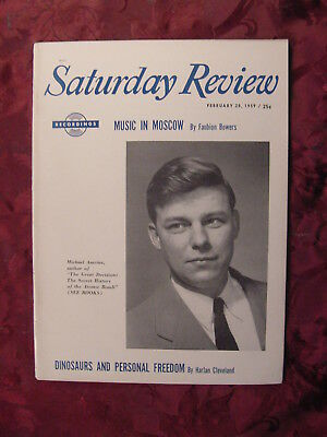 Saturday Review February 28 1959 MICHAEL AMRINE FAUBION BOWERS