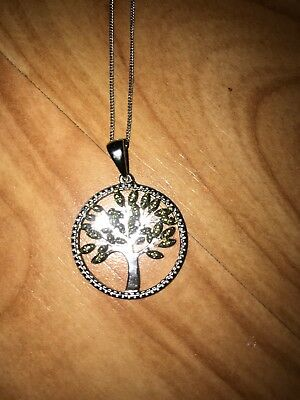 Silver Tree of Life Pendant Necklace Womens Ladies Gift New