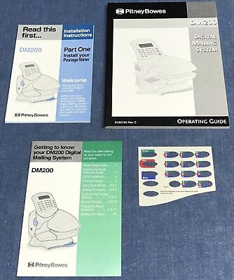 Pitney Bowes DM200 Operating Guide SV60793 C, Installation Instruction, Template