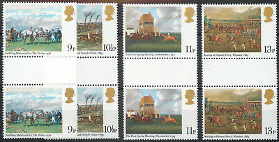 Great Britain GB 1979 Horse Racing: gutter pairs MNH unmounted mint