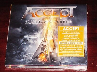 Accept: Symphonic Terror - Live At Wacken 2017 2 CD Set 2018 NB GmbH Digipak NEW
