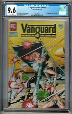 "Vanguard Illustrated #2 (1984) CGC 9.6  White Pages  Dave Stevens  ""Stargrazers"""